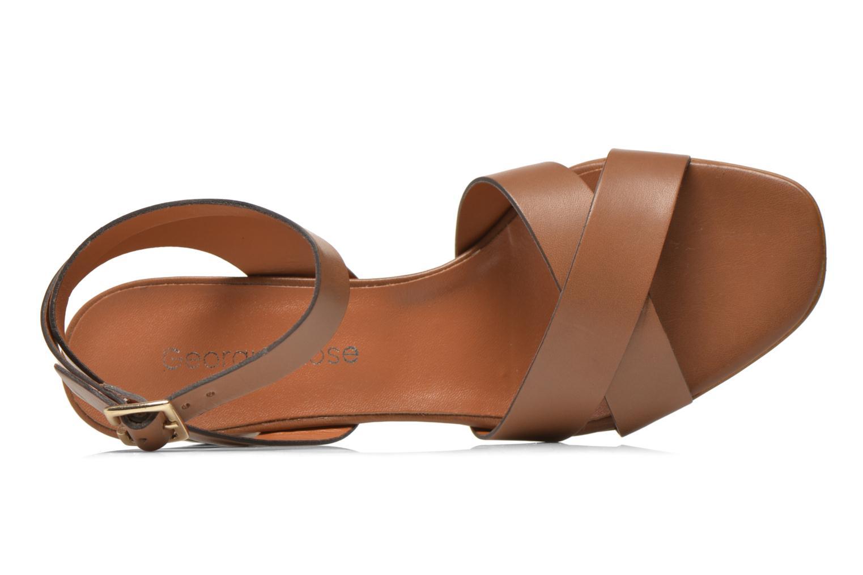 Sandales et nu-pieds Georgia Rose Batonnette Marron vue gauche