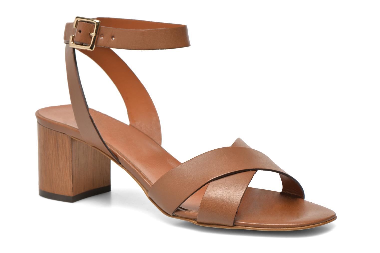 Sandales et nu-pieds Georgia Rose Batonnette Marron vue détail/paire