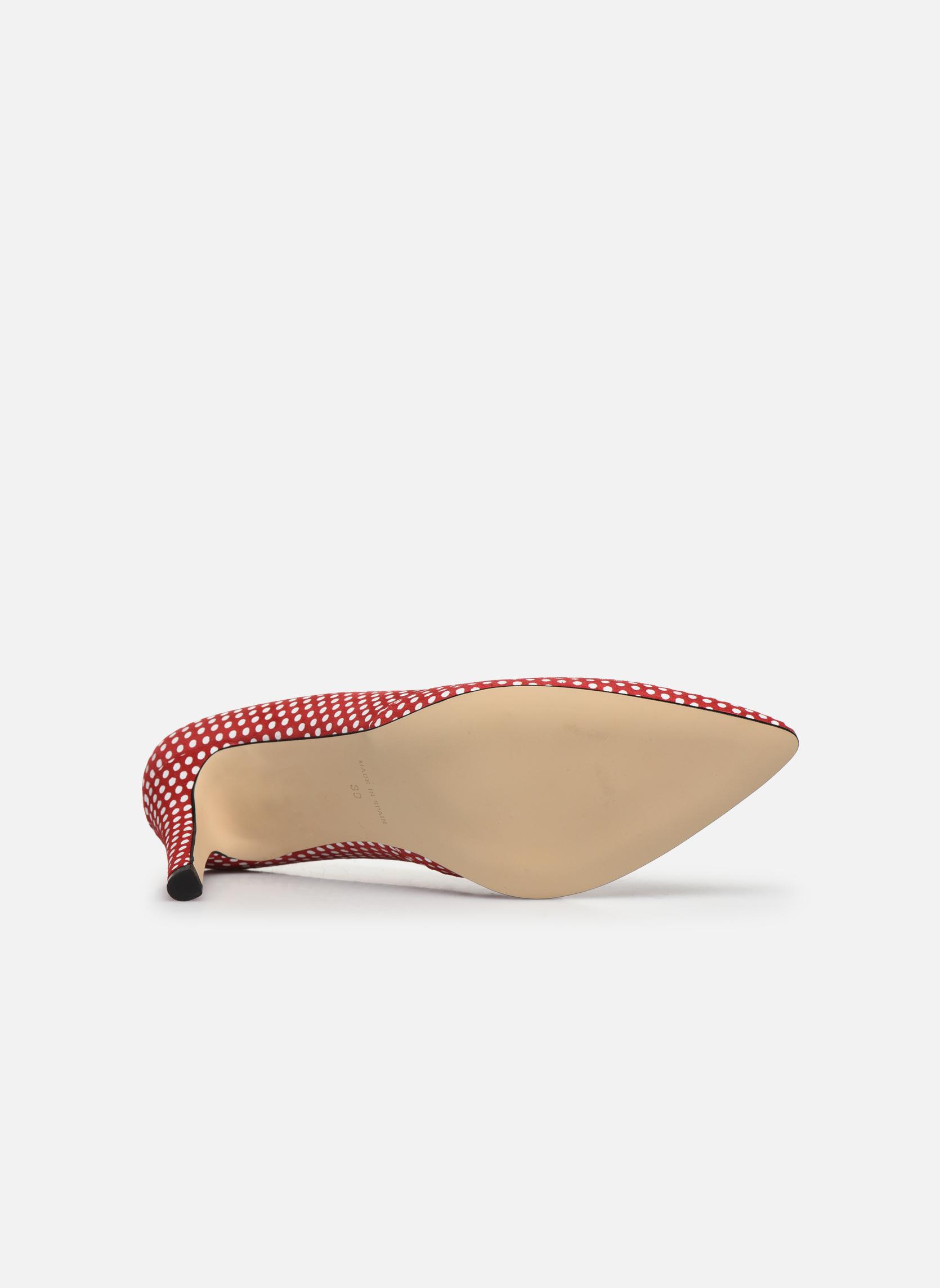 Fifillotte velours pois rouge