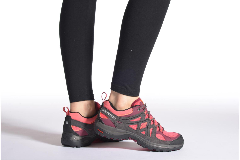 Chaussures de sport Salomon Ellipse 2 Aero W Gris vue bas / vue portée sac