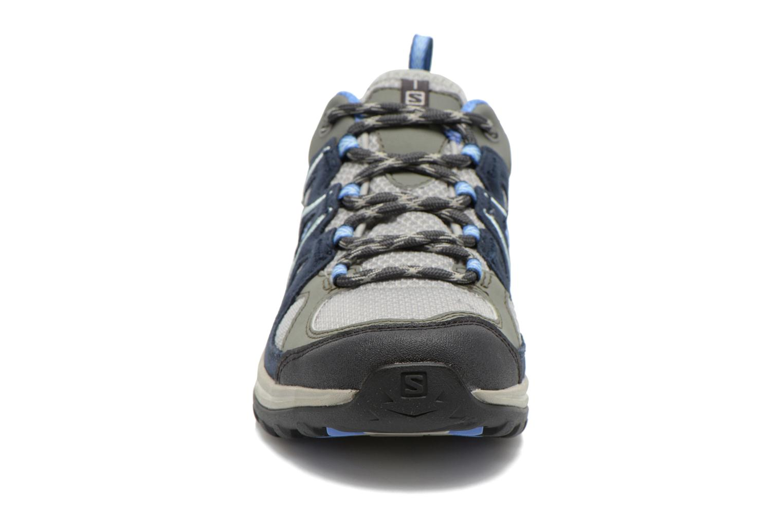 Chaussures de sport Salomon Ellipse 2 Aero W Gris vue portées chaussures