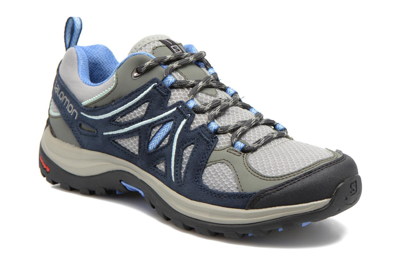 Chaussures de sport Salomon Ellipse 2 Aero W Gris vue détail/paire