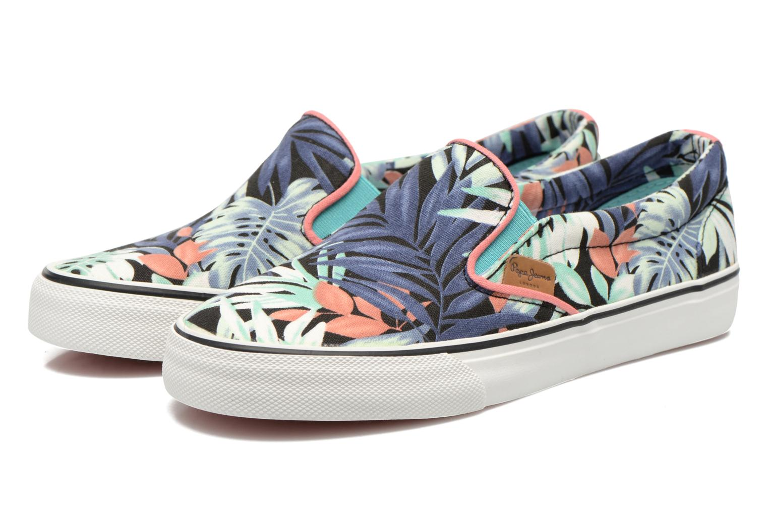 Baskets Pepe jeans Alford Jungle Multicolore vue 3/4