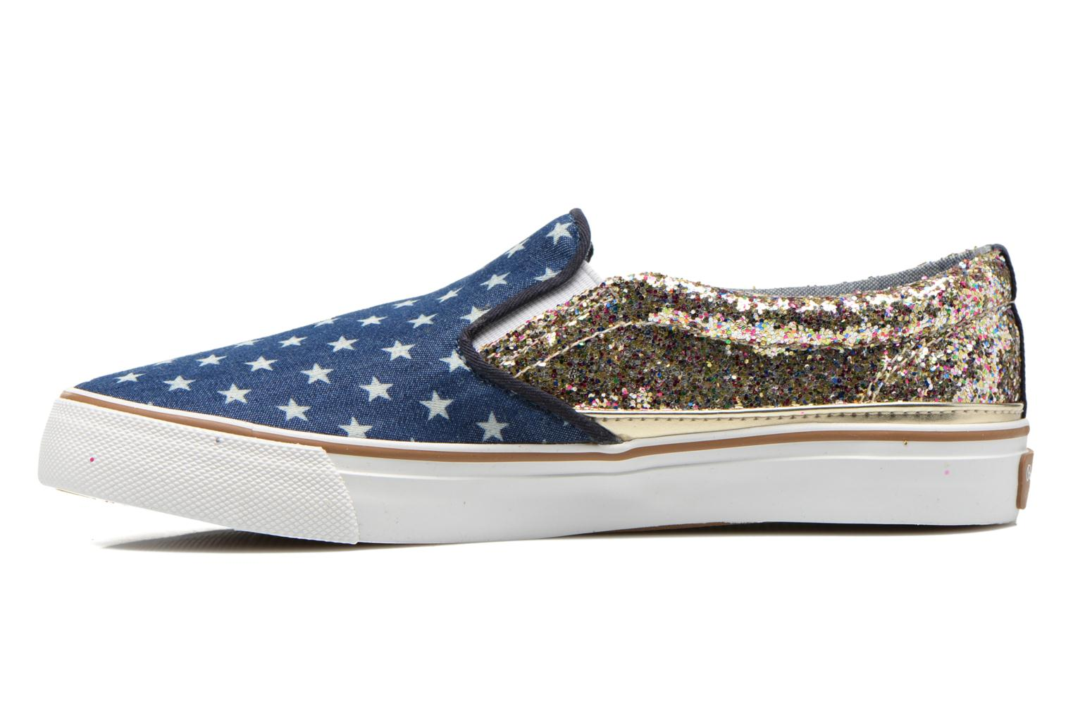 Baskets Pepe jeans Alford Party Stars Bleu vue face