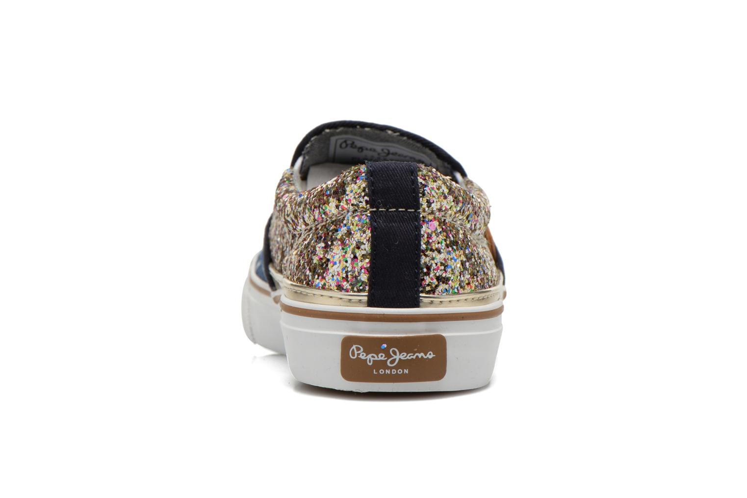 Deportivas Pepe jeans Alford Party Stars Azul vista lateral derecha