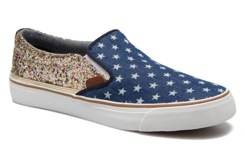 Baskets Pepe jeans Alford Party Stars Bleu vue détail/paire