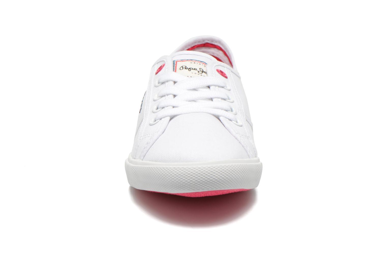 Baskets Pepe jeans Aberlady Sarenza Blanc vue portées chaussures