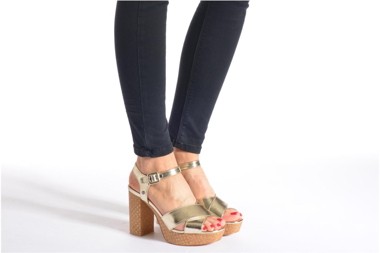 Sandalen Pepe jeans Grace Shine gold/bronze ansicht von unten / tasche getragen