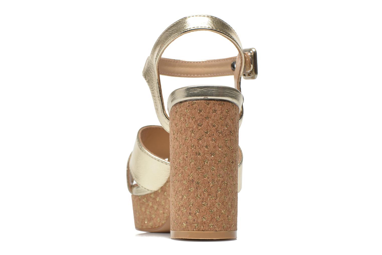 Sandalias Pepe jeans Grace Shine Oro y bronce vista lateral derecha