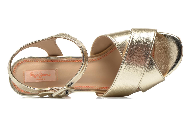 Sandalen Pepe jeans Grace Shine gold/bronze ansicht von links