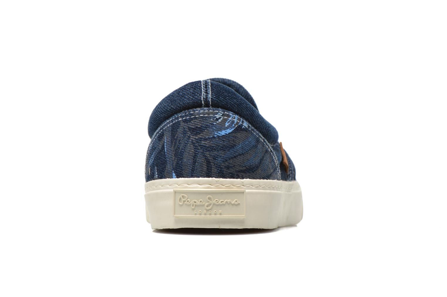 Trainers Pepe jeans Harry Denim Blue view from the right