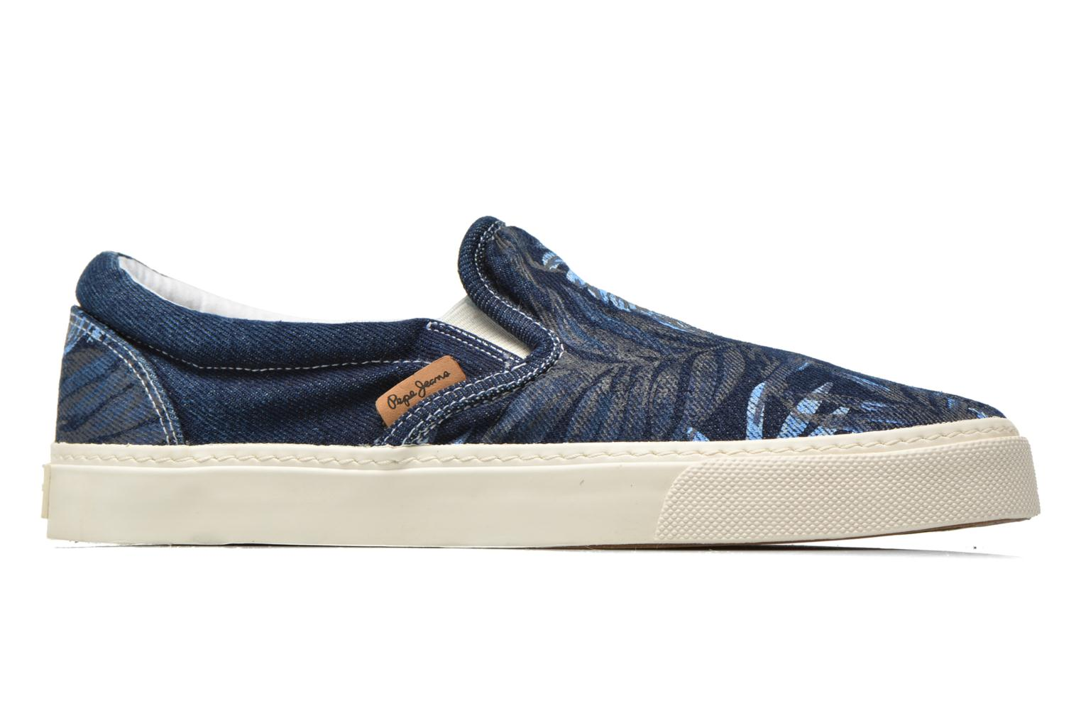 Trainers Pepe jeans Harry Denim Blue back view