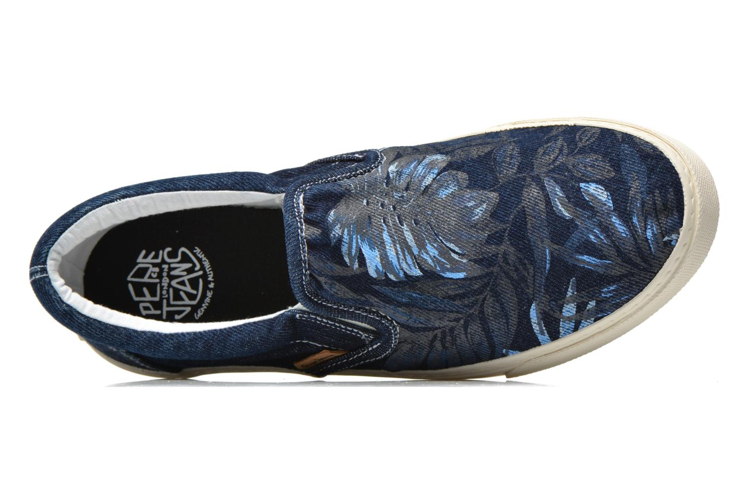 Trainers Pepe jeans Harry Denim Blue view from the left