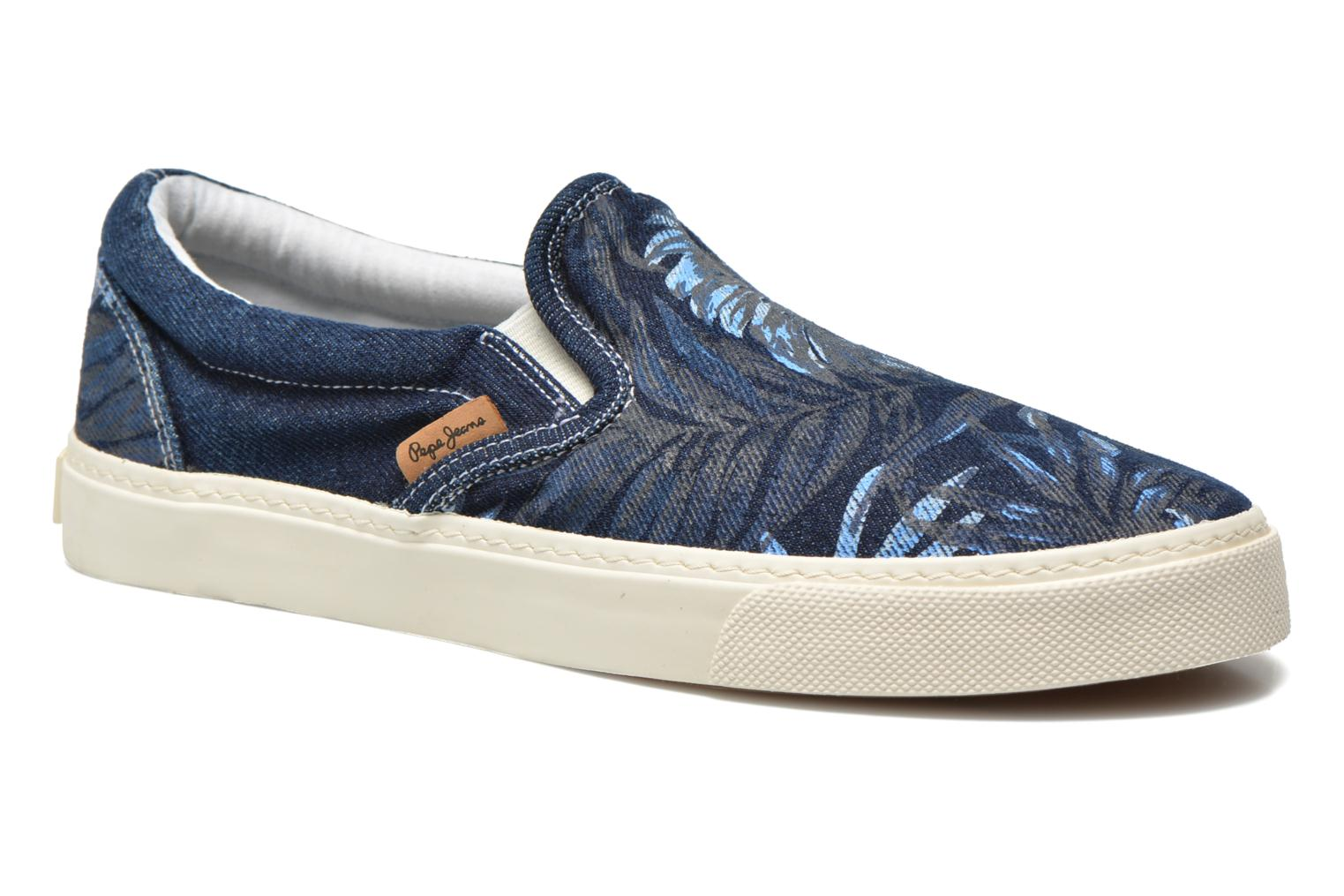 Trainers Pepe jeans Harry Denim Blue detailed view/ Pair view