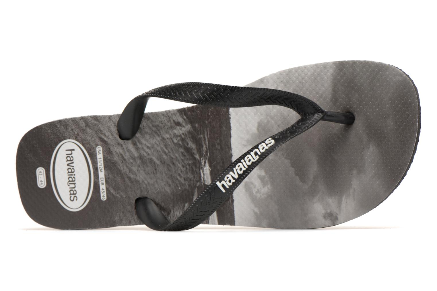 Flip flops Havaianas Top Photoprint Black view from the left