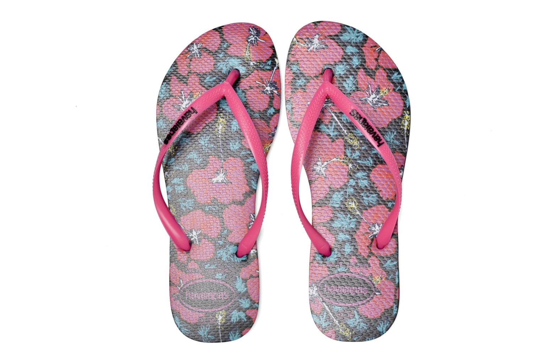 Flip flops Havaianas Slim Floral Pink 3/4 view