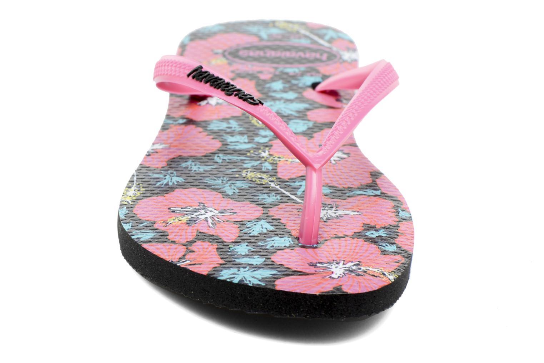 Flip flops Havaianas Slim Floral Pink model view