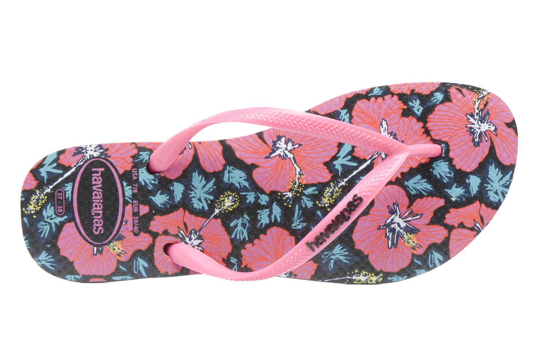 Chanclas Havaianas Slim Floral Rosa vista lateral izquierda