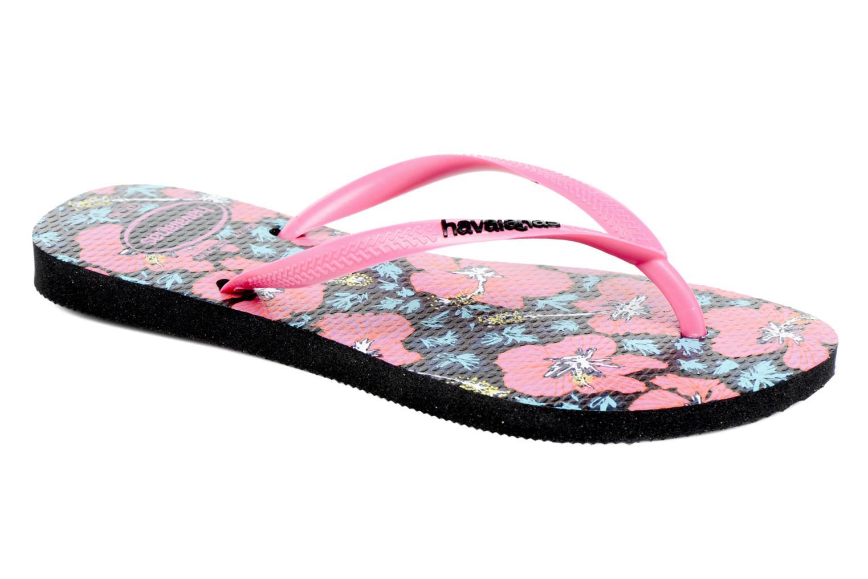 Flip flops Havaianas Slim Floral Pink detailed view/ Pair view