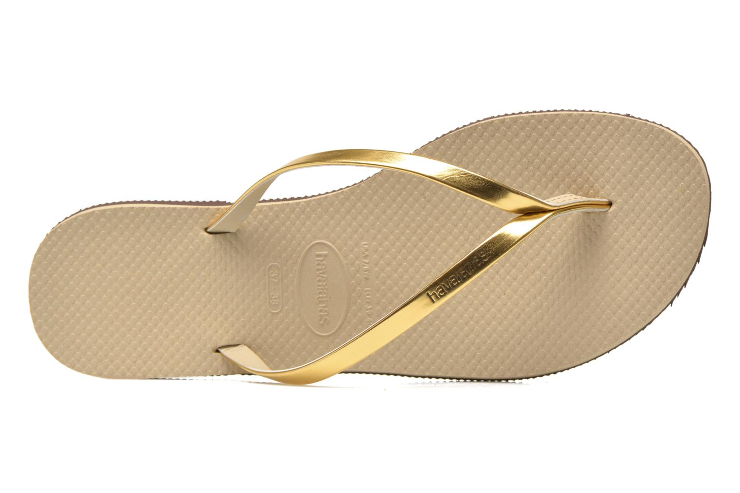 Zehensandalen Havaianas You Metallic gold/bronze ansicht von links