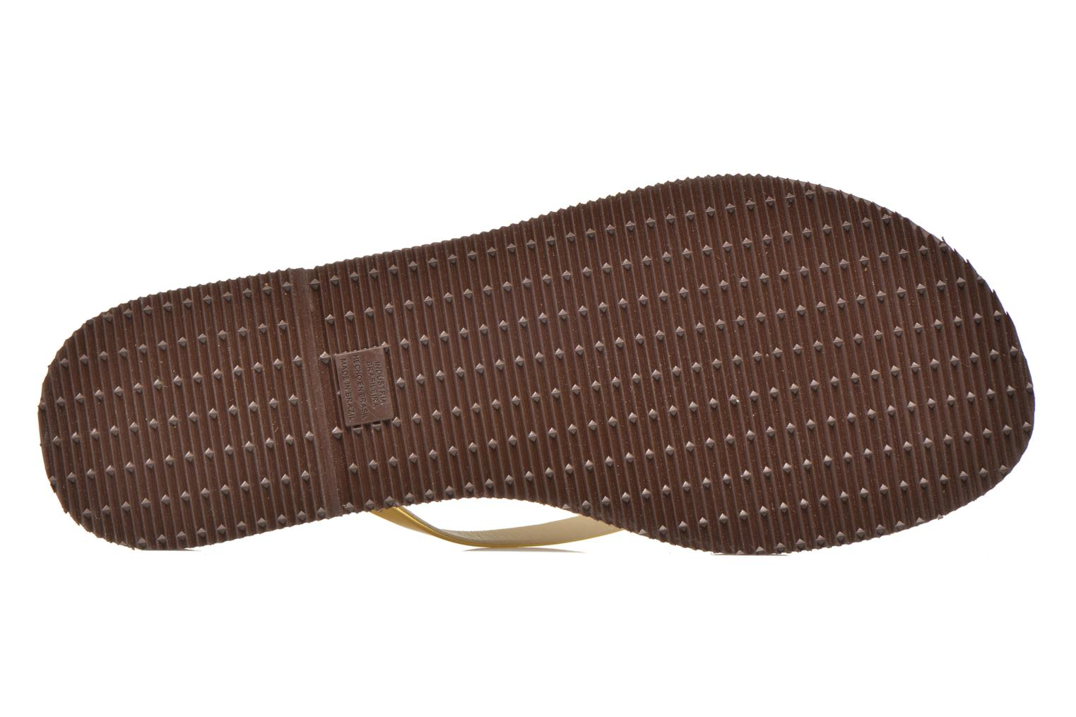Tongs Havaianas You Metallic Or et bronze vue haut