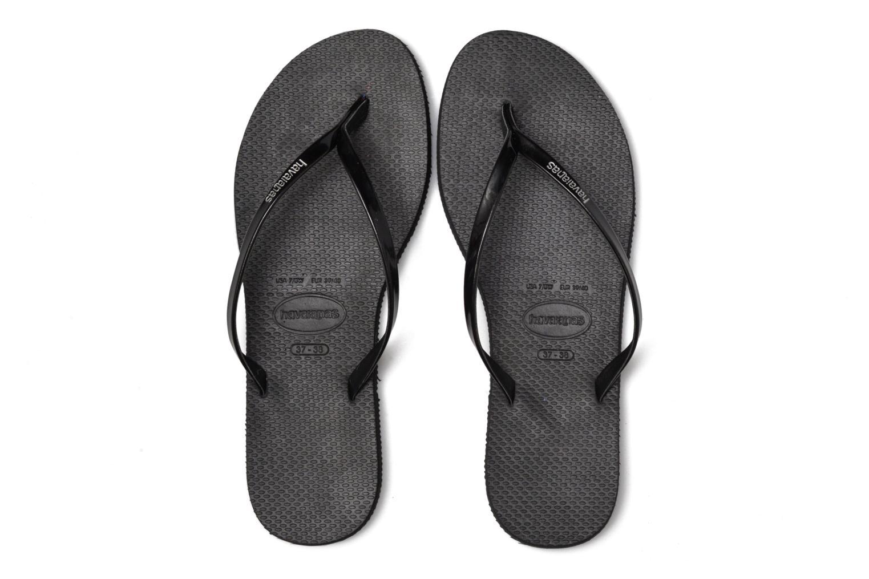 Flip flops Havaianas You Metallic Black 3/4 view