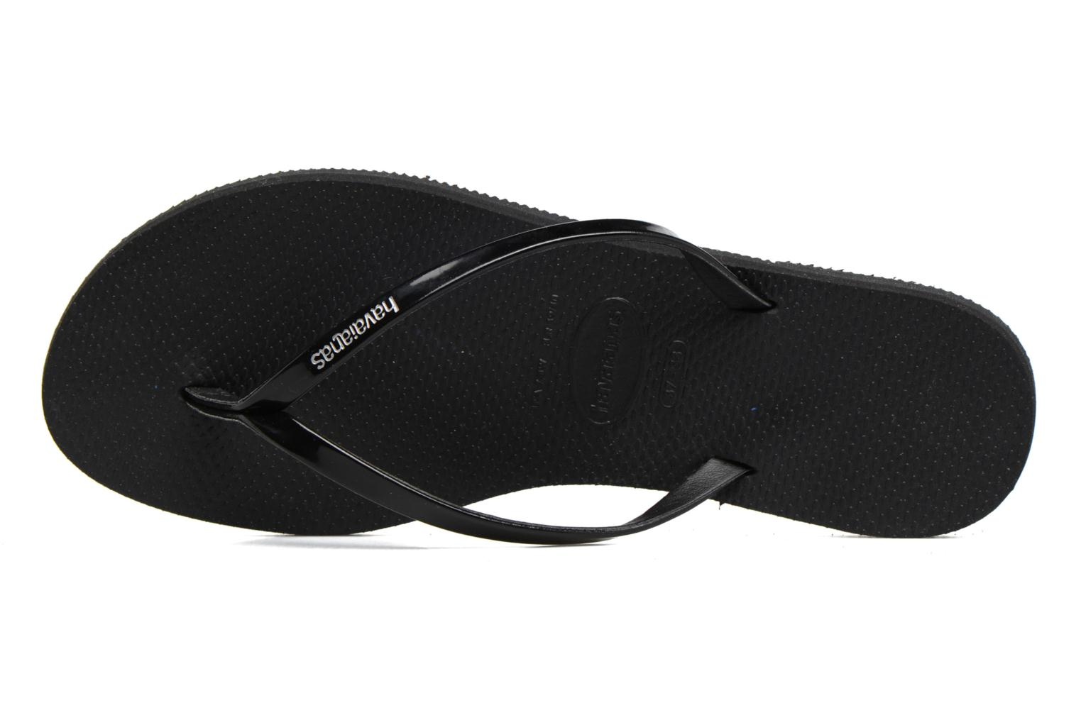 Tongs Havaianas You Metallic Noir vue gauche