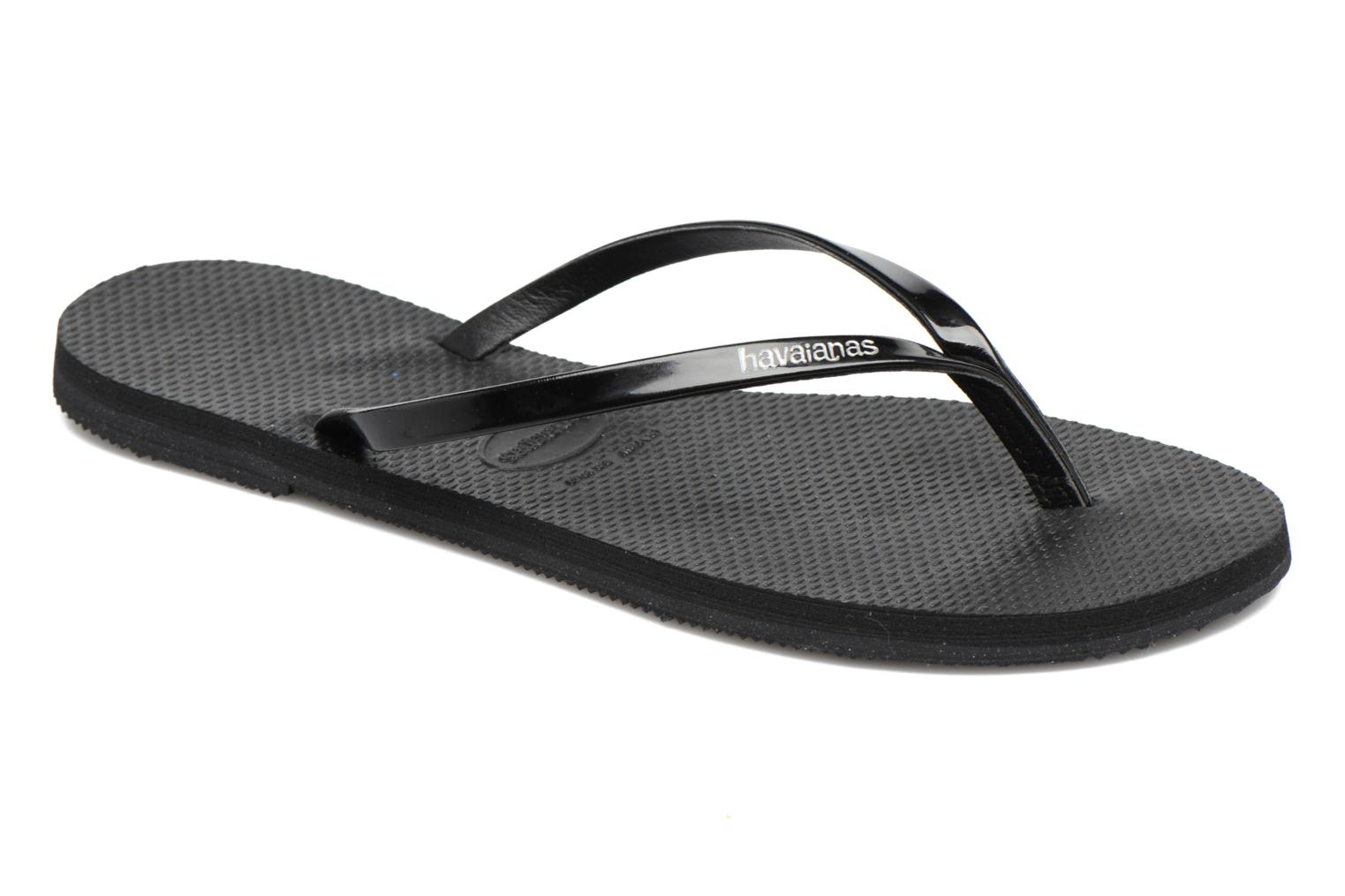Tongs Havaianas You Metallic Noir vue détail/paire