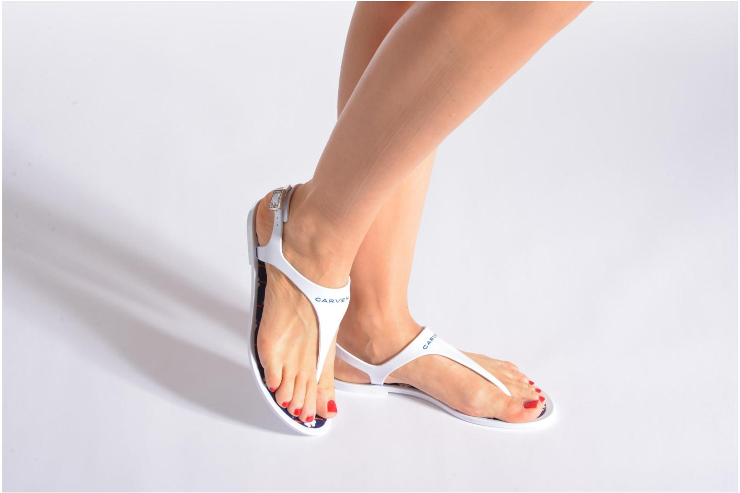 Sandals Carven Loja White view from underneath / model view