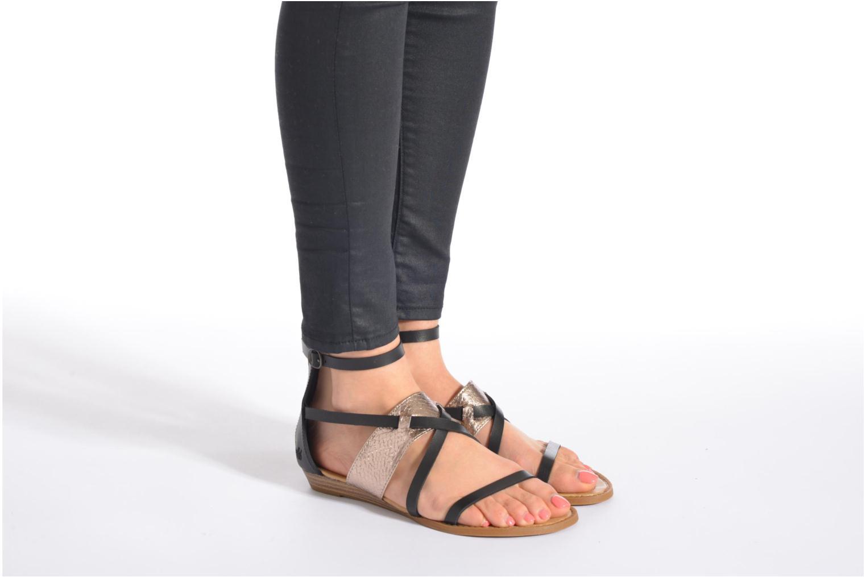 Sandales et nu-pieds Blowfish Badot Noir vue bas / vue portée sac