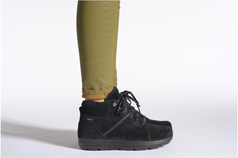 Scarpe con lacci Clarks Nelia Lush GTX Nero immagine dal basso
