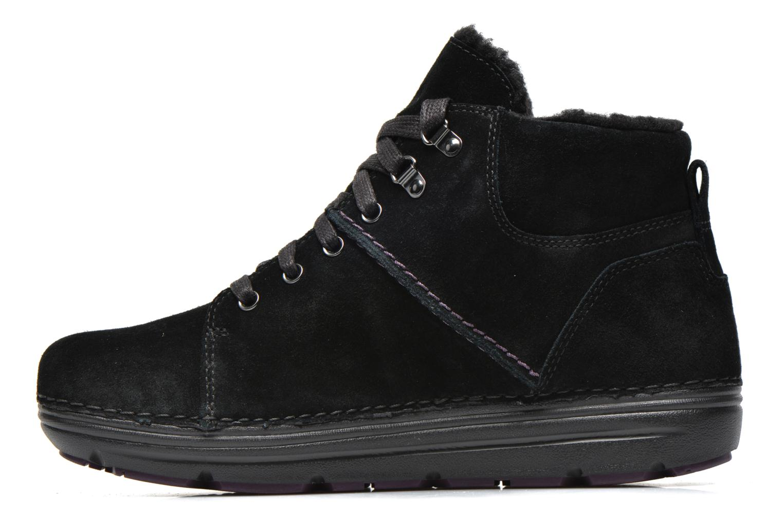 Zapatos con cordones Clarks Nelia Lush GTX Negro vista de frente