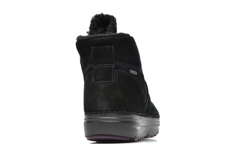 Zapatos con cordones Clarks Nelia Lush GTX Negro vista lateral derecha