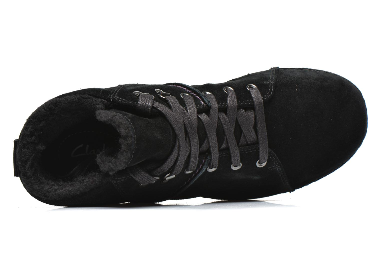 Zapatos con cordones Clarks Nelia Lush GTX Negro vista lateral izquierda