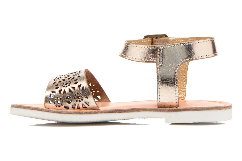 Sandals Les Tropéziennes par M Belarbi Mandy Bronze and Gold front view