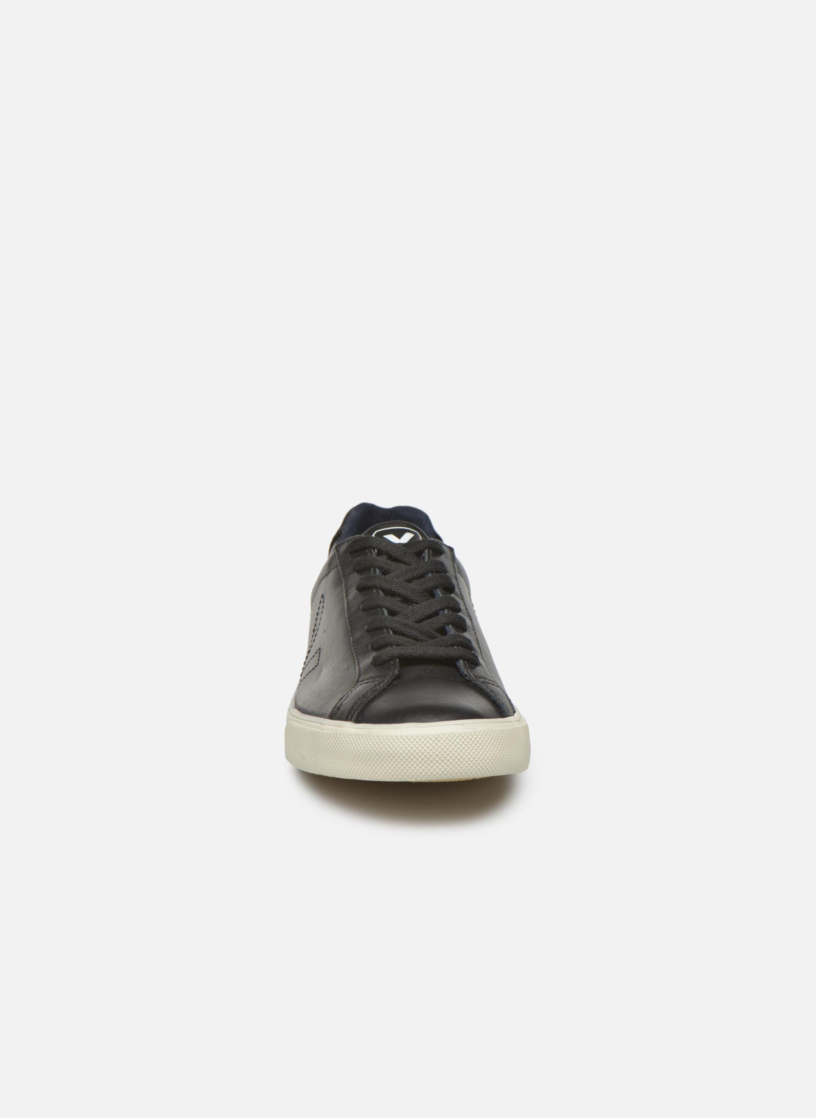 Baskets Veja Esplar Leather Noir vue portées chaussures