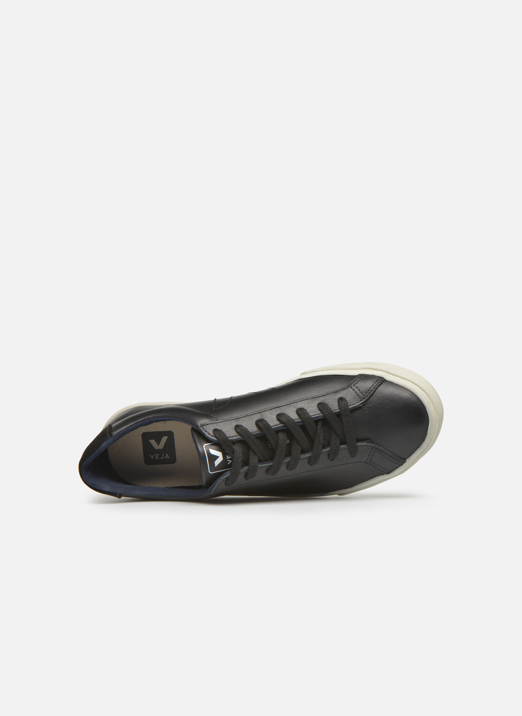 Baskets Veja Esplar Leather Noir vue gauche