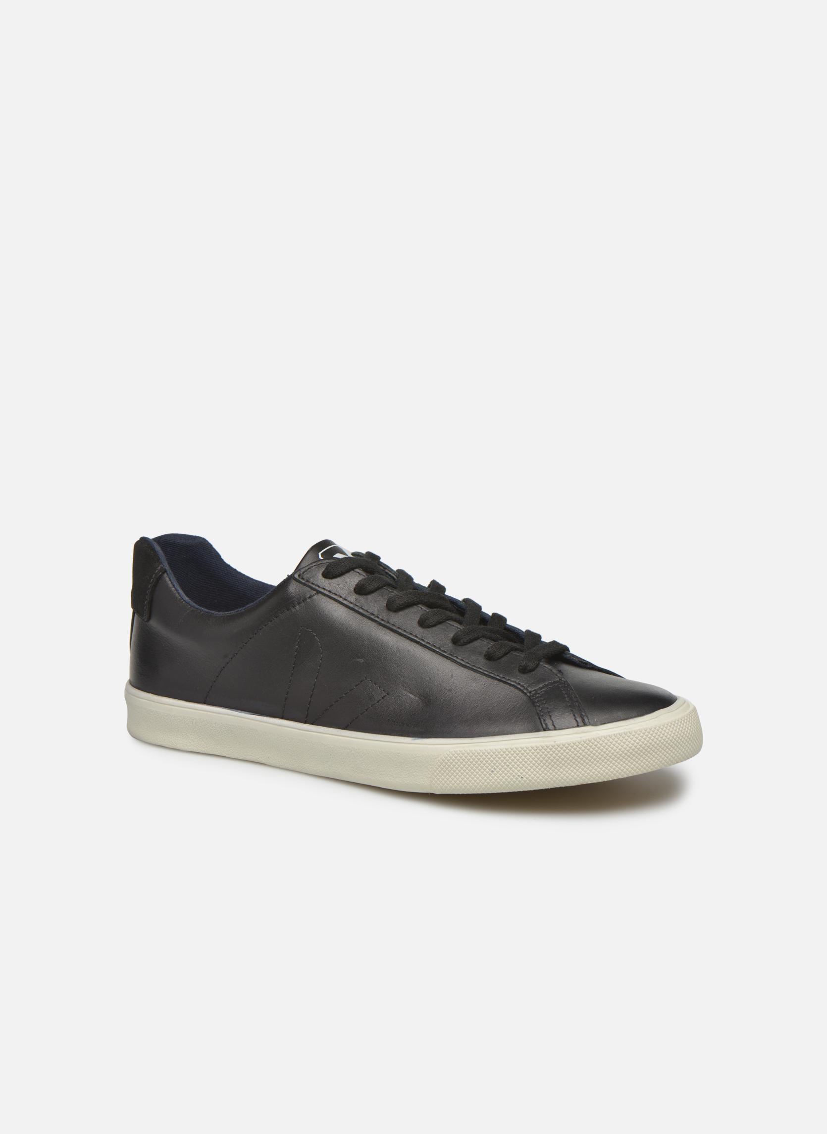 Baskets Veja Esplar Leather Noir vue détail/paire