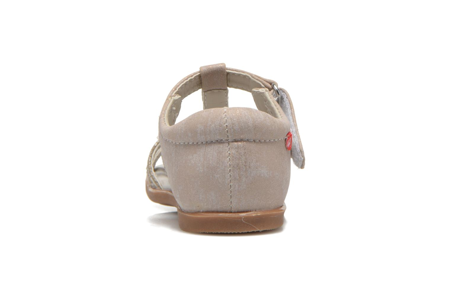 Sandals NA! Satin Beige view from the right