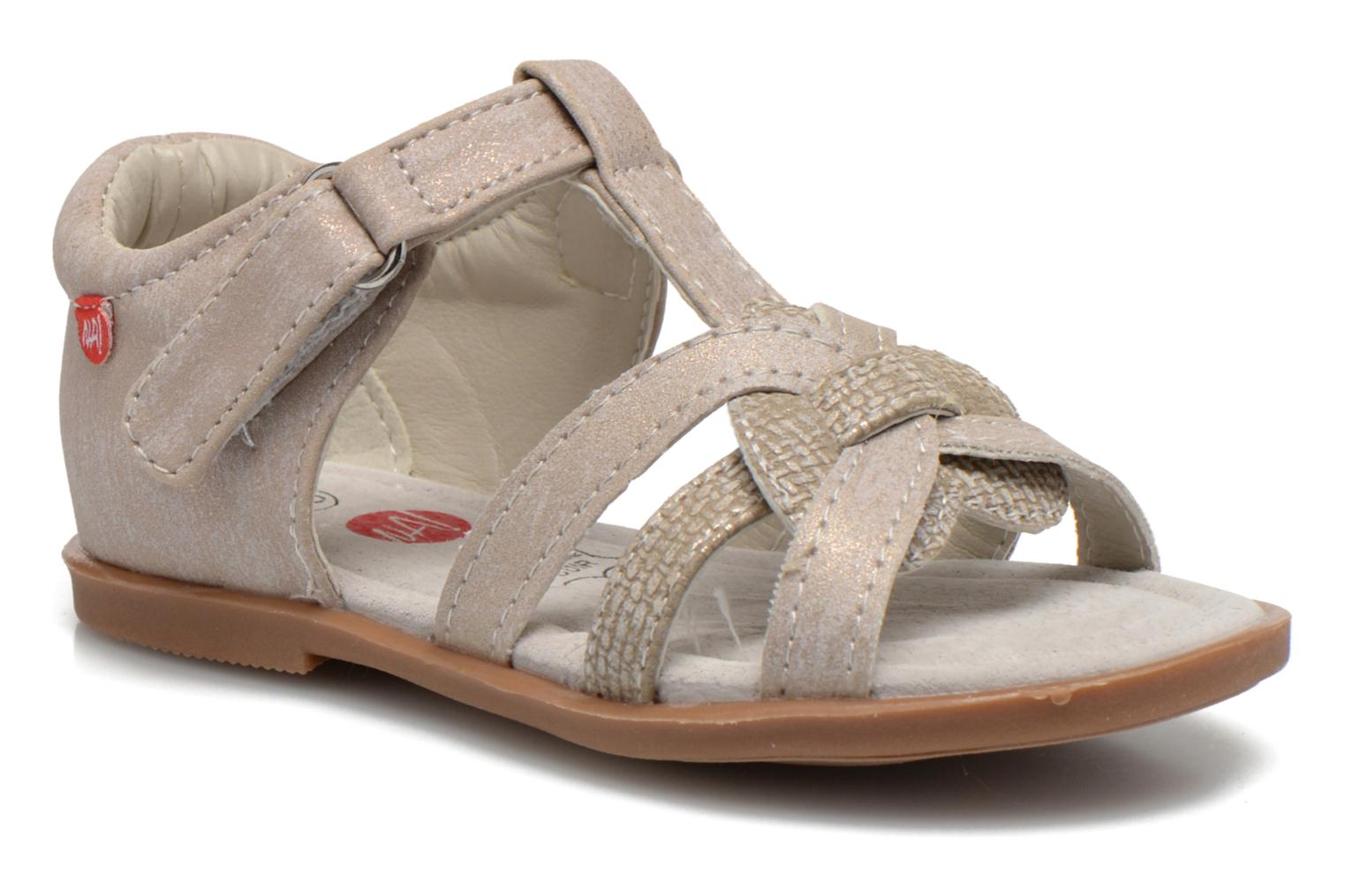 Sandals NA! Satin Beige detailed view/ Pair view