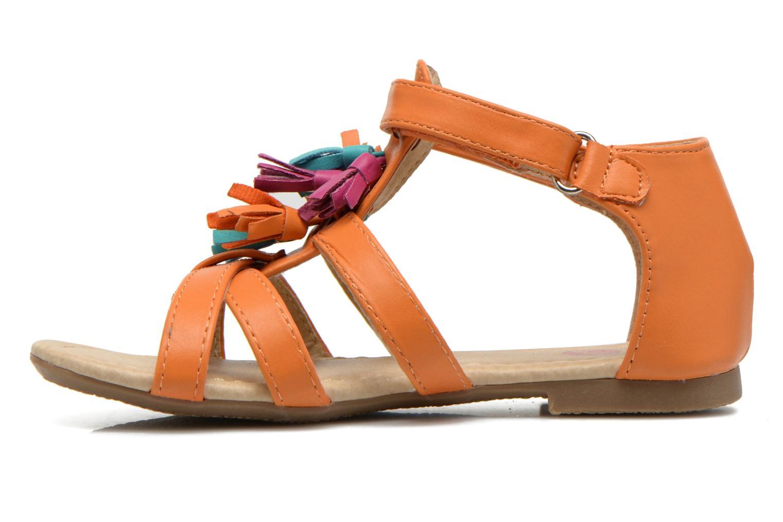Sandalias NA! Flo Naranja vista de frente
