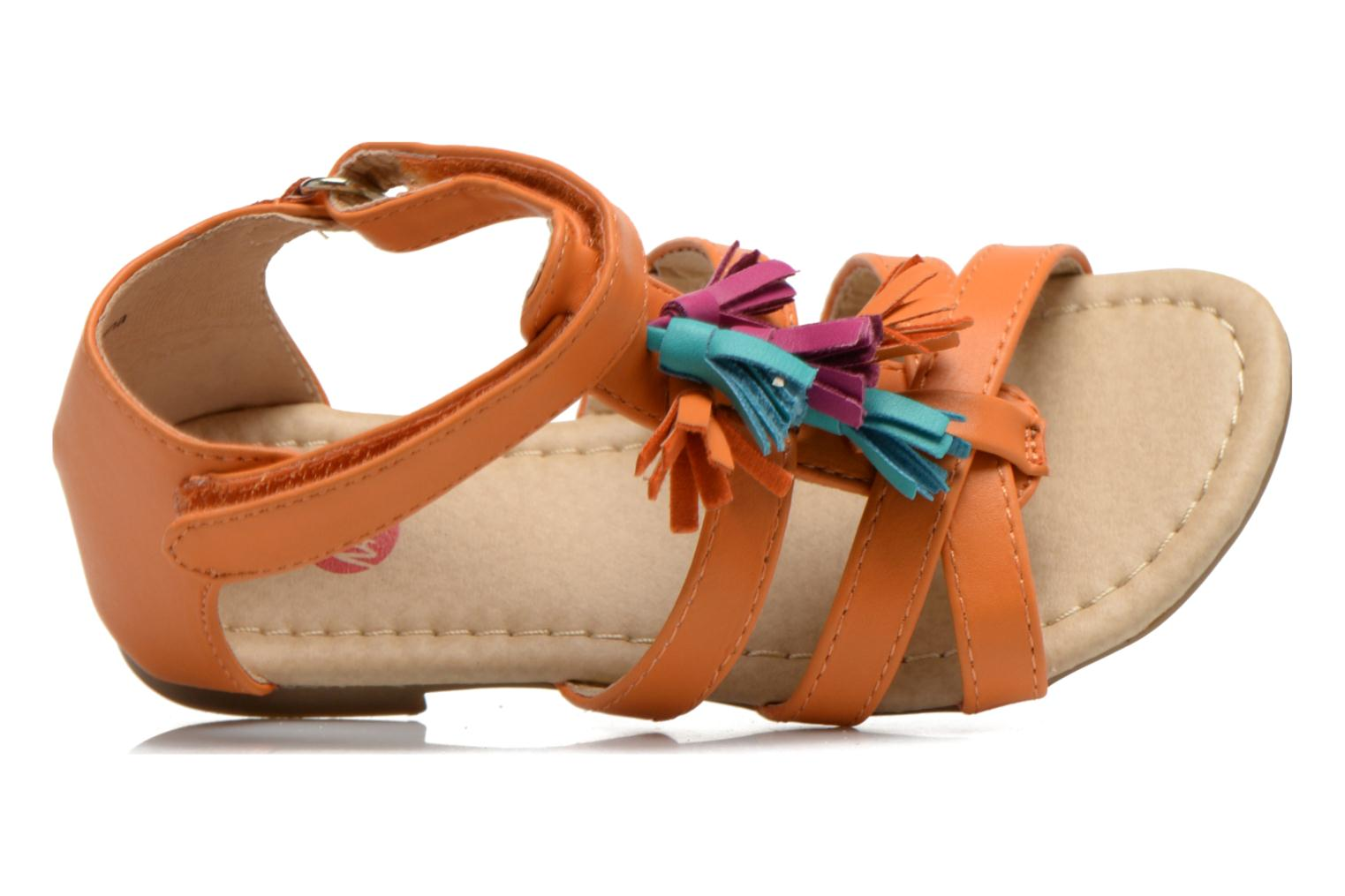 Sandals NA! Flo Orange view from the left