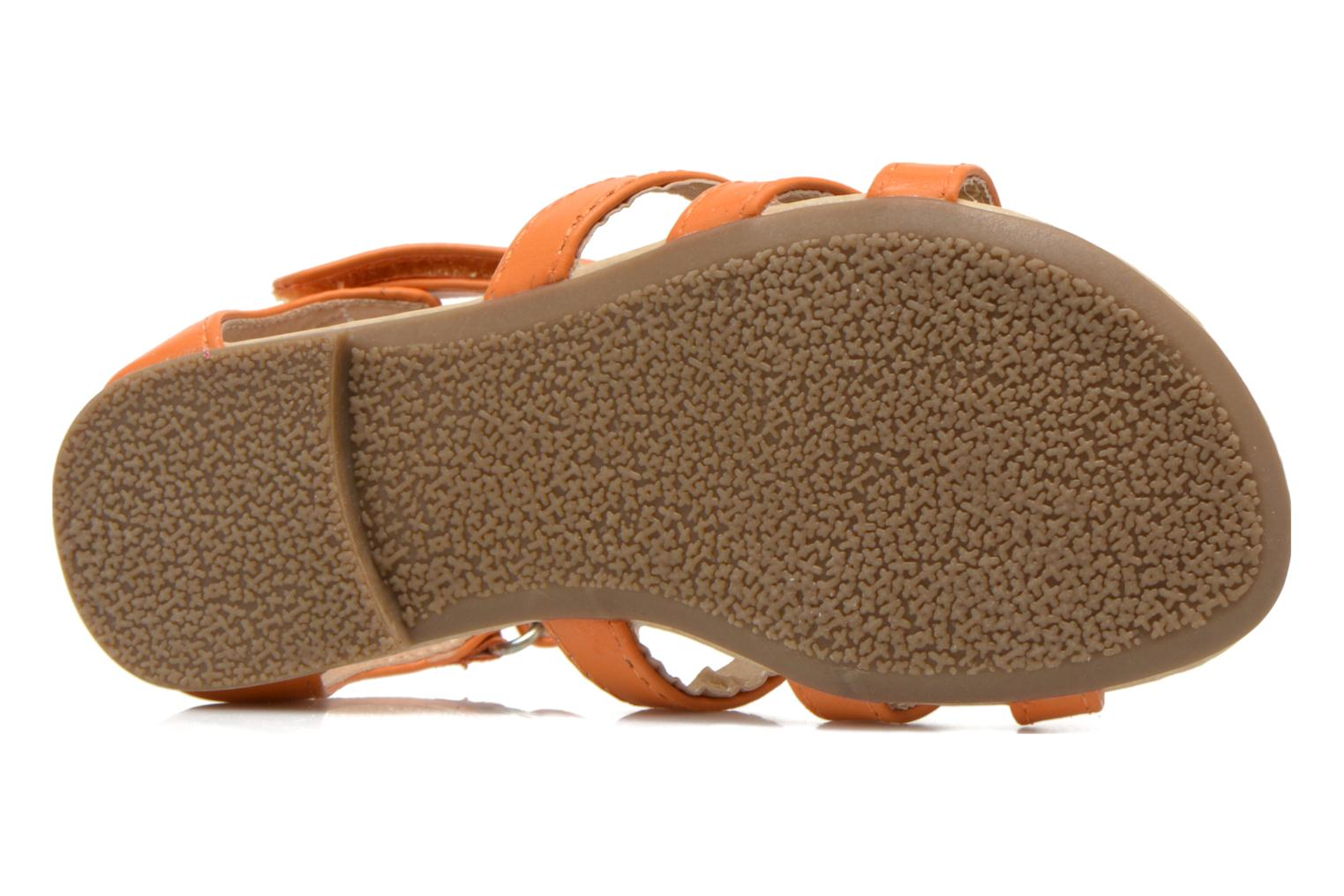 Sandals NA! Flo Orange view from above