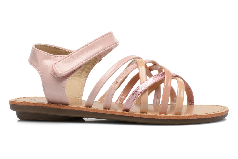 Sandales et nu-pieds NA! Farandol Rose vue derrière