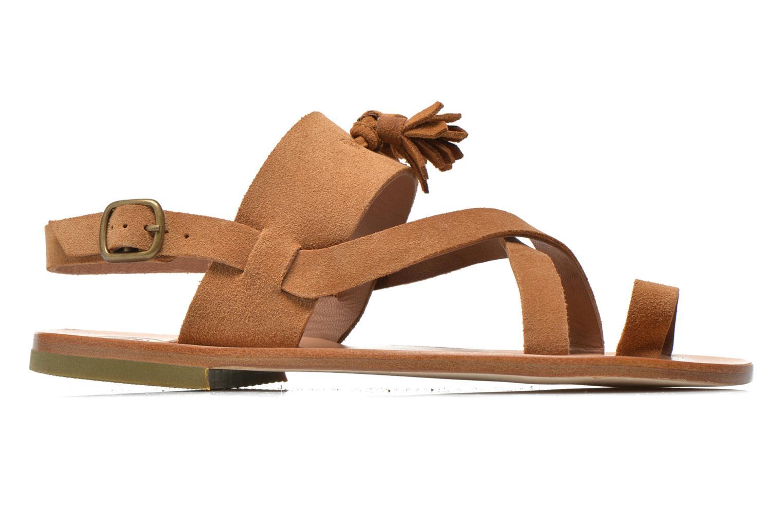 Sandales et nu-pieds PèPè Luna Marron vue derrière