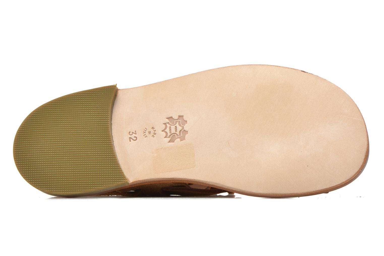 Sandales et nu-pieds PèPè Luna Marron vue haut