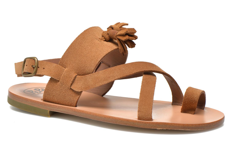 Sandales et nu-pieds PèPè Luna Marron vue détail/paire