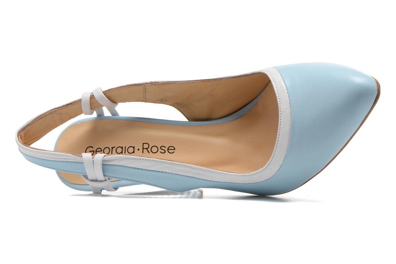 Escarpins Georgia Rose Barquette Bleu vue gauche