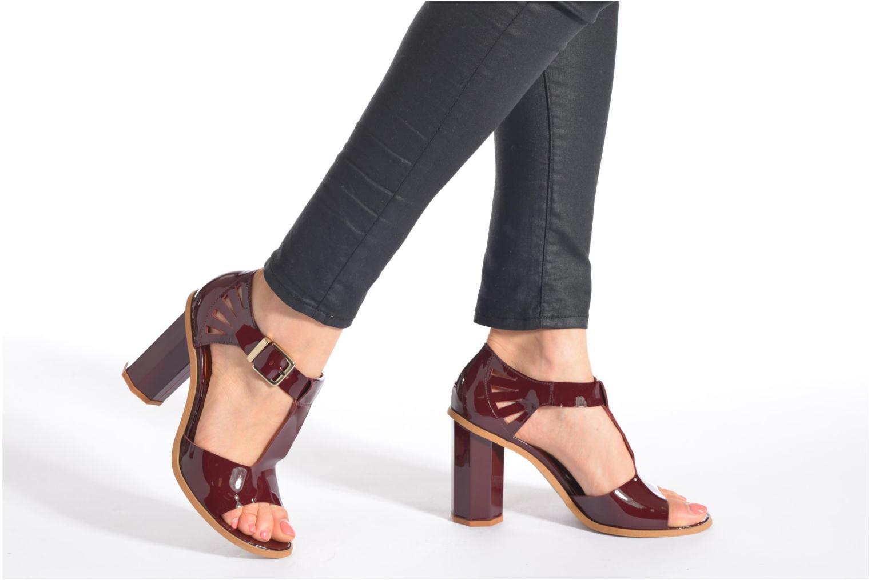Sandales et nu-pieds Made by SARENZA Square Simone#3 Bordeaux vue bas / vue portée sac