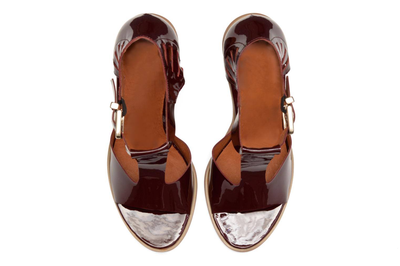 Sandales et nu-pieds Made by SARENZA Square Simone#3 Bordeaux vue portées chaussures